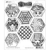 A Heck Of Hexies Dyan Reaveley's Dylusions Cling Stamp