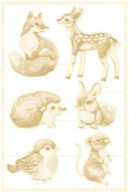 #01 Die-Cut Chipboard Embellishments - Forest Tea Party - P13 - PRE ORDER