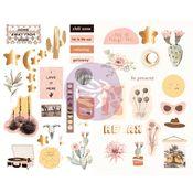 Golden Desert Collection Chipboard Stickers - Prima