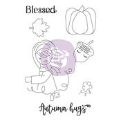 Autumn Hugs Julie Nutting Doll Stamp - Prima