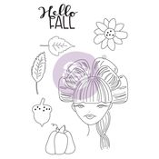 Rebecca Julie Nutting Doll Stamp - Prima