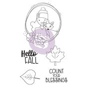 Hello Fall Julie Nutting Doll Stamp - Prima