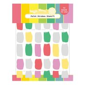 Paint Strokes Stencil - Waffle Flower Crafts