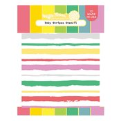 Inky Stripes Stencil - Waffle Flower Crafts