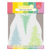Pine Trees Stencil - Waffle Flower Crafts