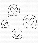 Love Speech Bubbles Die-namics Dies - My Favorite Things