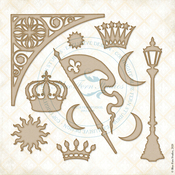 Crowning Glory Chipboard - Lucky Star - Blue Fern Studios - PRE ORDER