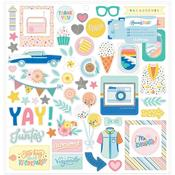 Buenos Dias Icons & Phrase Chipboard Stickers  - American Crafts