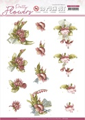 Red Flowers Pretty Flowers Punchout Sheet - Precious Marieke - Find It Trading