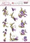 Pretty Flowers Flowers & Swan Punchout Sheet - Precious Marieke - Find It Trading