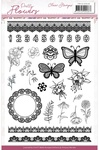 Pretty Flowers Clear Stamps - Precious Marieke - Find It Trading