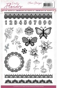 Pretty Flowers Clear Stamps - Precious Marieke - Find It Trading - PRE ORDER