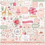 Welcome Baby Girl Element Sticker - Echo Park