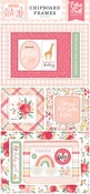Welcome Baby Girl 6x13 Chipboard Frames - Echo Park