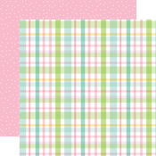 Pastel Plaid Paper - Welcome Easter - Echo Park