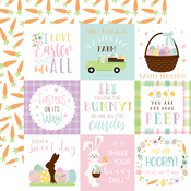 4X4 Journaling Cards Paper - Welcome Easter - Echo Park