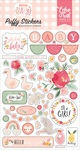 Welcome Baby Girl Puffy Stickers - Echo Park