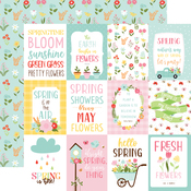 3X4 Journaling Cards Paper - Welcome Spring - Echo Park