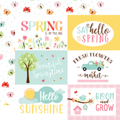 6X4 Journaling Cards Paper - Welcome Spring - Echo Park