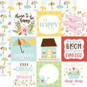 4X4 Journaling Cards Paper - Welcome Spring - Echo Park