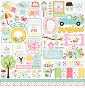 Welcome Spring Element Sticker - Echo Park