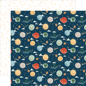 Planets Paper - Welcome Baby Boy - Echo Park