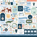 Welcome Baby Boy Element Sticker - Echo Park