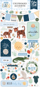 Welcome Baby Boy 6x13 Chipboard Accents - Echo Park