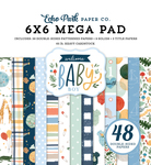 Welcome Baby Boy Cardmakers 6x6 Mega Pad - Echo Park