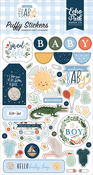Welcome Baby Boy Puffy Stickers - Echo Park