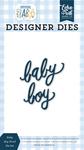 Baby Boy Word Die Set - Welcome Baby Boy - Echo Park