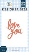 Script Love You Word Die Set - Welcome Baby Boy - Echo Park