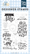 Welcome Baby Stamp Set - Welcome Baby Boy - Echo Park
