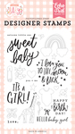Welcome Little One Stamp Set - Welcome Baby Girl - Echo Park