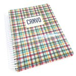 Hip Plaid Canvo Journal - Catherine Pooler