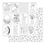Color Me Paper - Baskets of Bunnies - Photoplay
