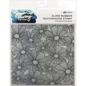 Sketched Bouquet Cling Stamp - Simon Hurley