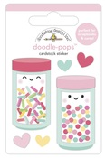 Sprinkle Shoppe Doodlepops - Made With Love - Doodlebug