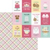 Cake Plaider Paper - Made With Love - Doodlebug