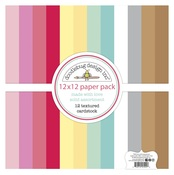 Made With Love Textured Cardstock Paper Pack - Doodlebug
