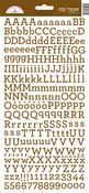 Bon Bon My Type Cardstock Alpha Stickers - Doodlebug