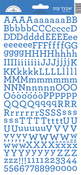 Blue Jean My Type Cardstock Alpha Stickers - Doodlebug