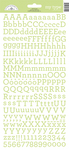 Limeade My Type Cardstock Alpha Stickers - Doodlebug