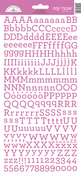 Bubblegum My Type Cardstock Alpha Stickers - Doodlebug