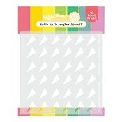 Infinite Triangles Stencil - Waffle Flower