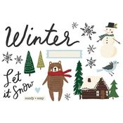 Winter Page Pieces - Simple Stories - PRE ORDER