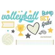 Volleyball Page Pieces - Simple Stories