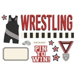 Wrestling Page Pieces - Simple Stories