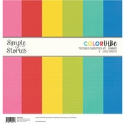 Summer Color Vibe Cardstock Kit - Simple Stories