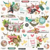Simple Vintage Cottage Fields Banner Cardstock Stickers - Simple Stories